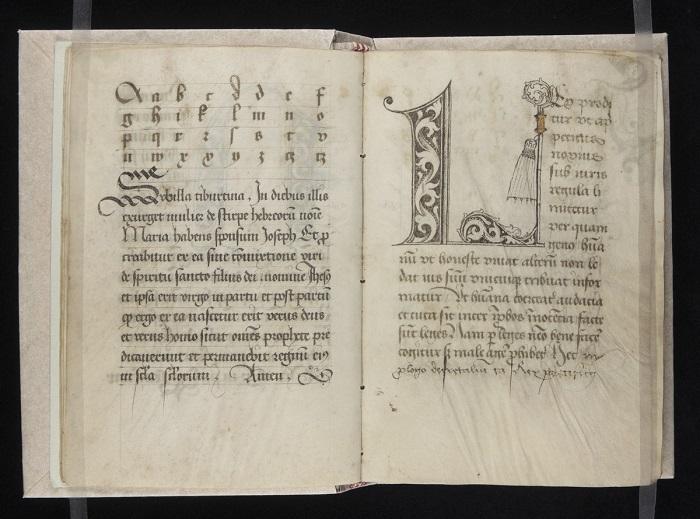 Manuscrito caligrafía gótica bastarda circa 1510-1517