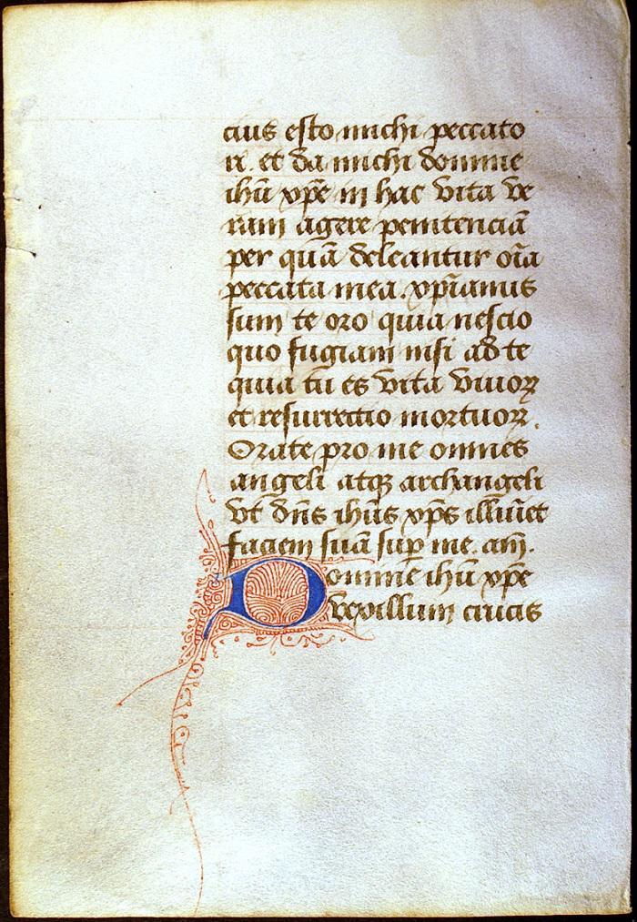Manuscrito Books of Hours en gótica bastarda, 1450