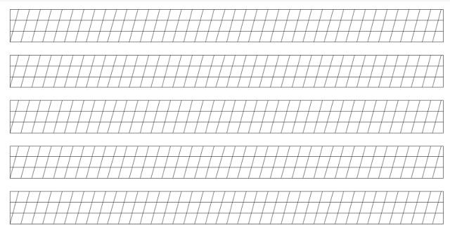 Previsualización pauta cursiva en letra ligada