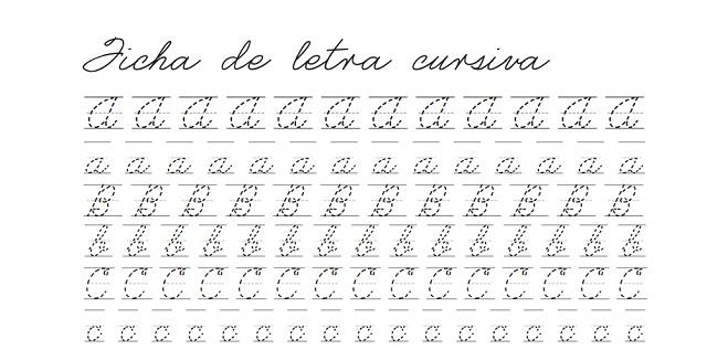 Previsualización plantilla cursiva en letra ligada