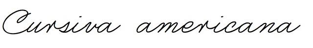 Fuente cursiva americana