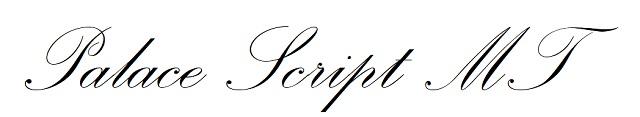 Fuente cursiva inglesa